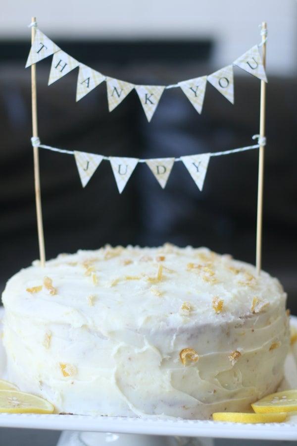 Lemon Layer Cake With Lemon Cream Cheese Frosting