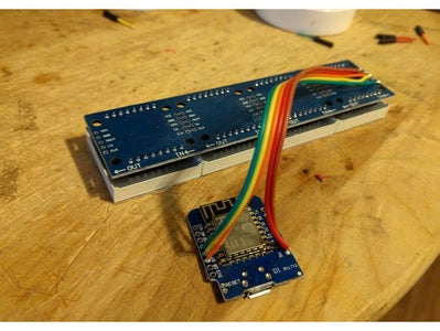 Wiring for the Wemos D1 Mini to the Dot Matrix Display