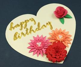 DIY Heart Shaped Birthday Card