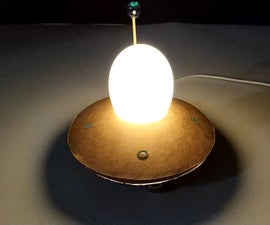 Making UFO Photosensitive Night Light With Eggshell