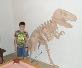 "Build a 6'-0"" tall Wooden T-Rex Model"