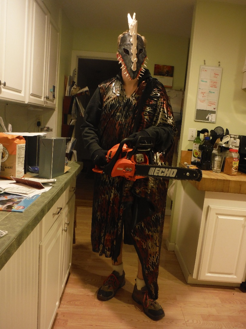 Picture of Chainsaw Monster Halloween Costume Prototype