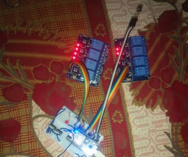 8 Relay Control With NodeMCU and IR Receiver Using WiFi and IR Remote and Android App