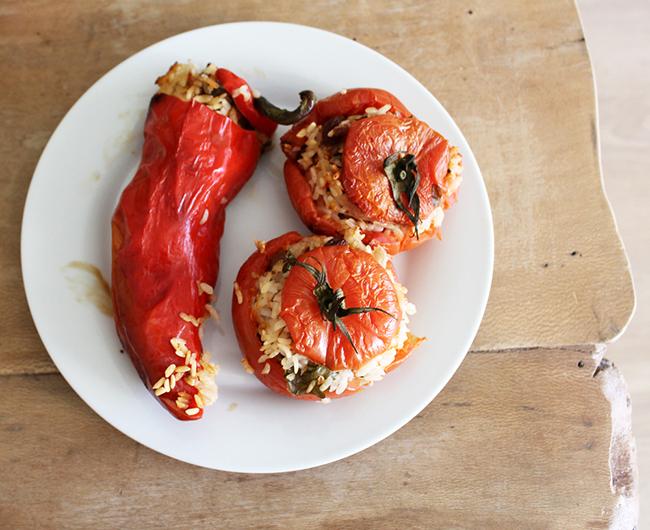 Picture of Stuffed Tomatoes - Greek Gemista - Vegan - Gluten Free