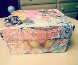 ❤How to Decoupage a jewelry box!❤