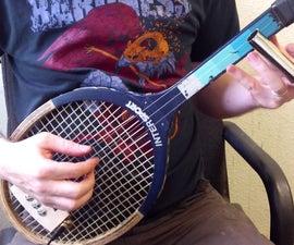 Turn a Tennis Racket into a 3-stringed guitar