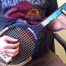 Turn a Tennis Racket into a 3-stringed guitar