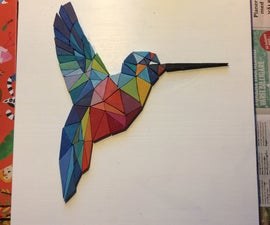 Low Poly Wooden Wall Art