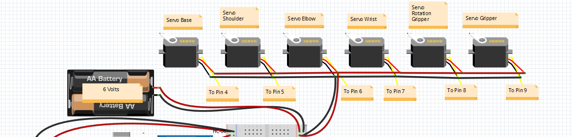 Picture of Circuit for the Servos