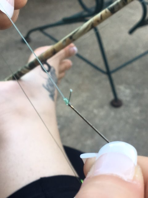 Picture of Attach Hook at the End of Leader Line