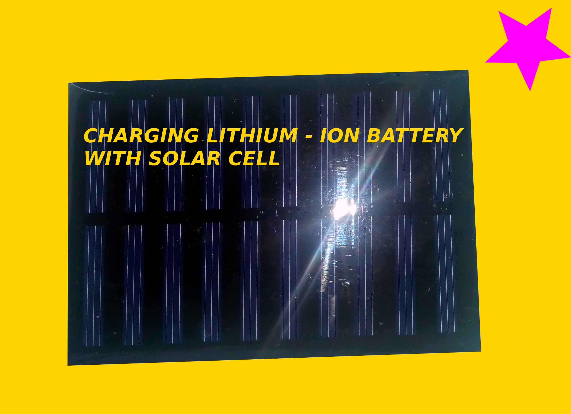 Picture of Charging Lithium - Ion Battery With Solar Cell