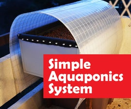 Simple Aquaponics system flood and drain