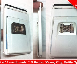 .25 ultra slim minimalistic Wallet, money clip, metal bottle opener, credit card that could be attached to your android case