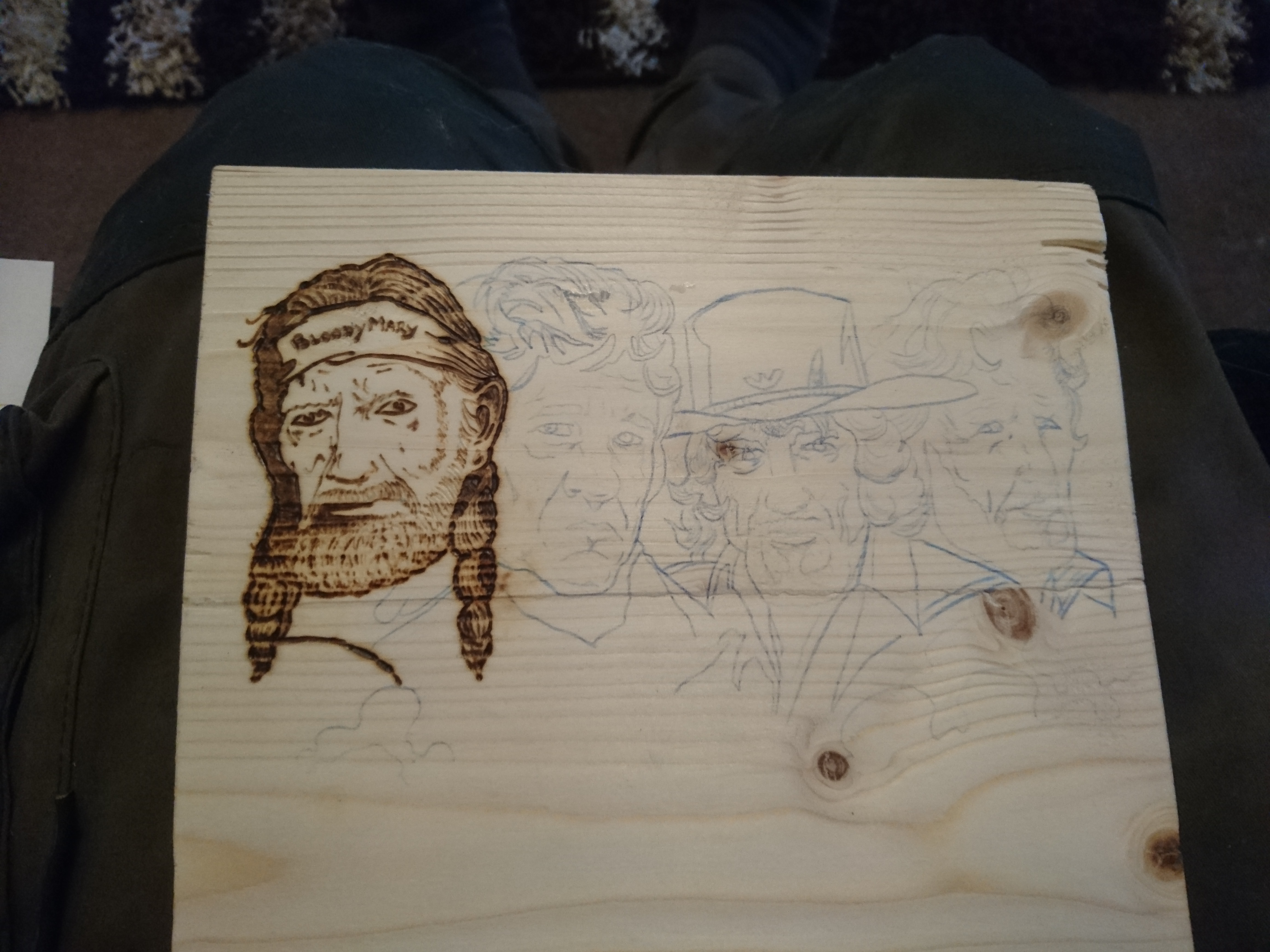 Picture of Sketch a Design and Start the Pyrography
