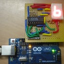 Displaying numbers using a homemade arduino mini shield!
