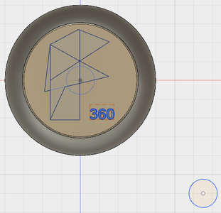 Sketch a Circle for the Axle