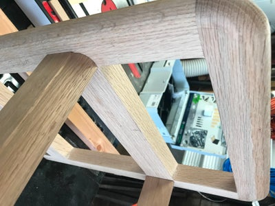 Dry Fit the Newly Glued Legs With the Front and Back Stretchers