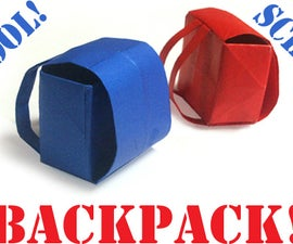How to make an origami Backpack!