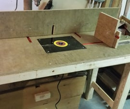 Collapsible, Stowable Router Table