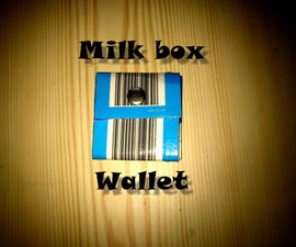 Milk box paper wallet