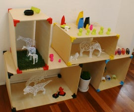 XYZ Connect 3D Printed Box Shelves
