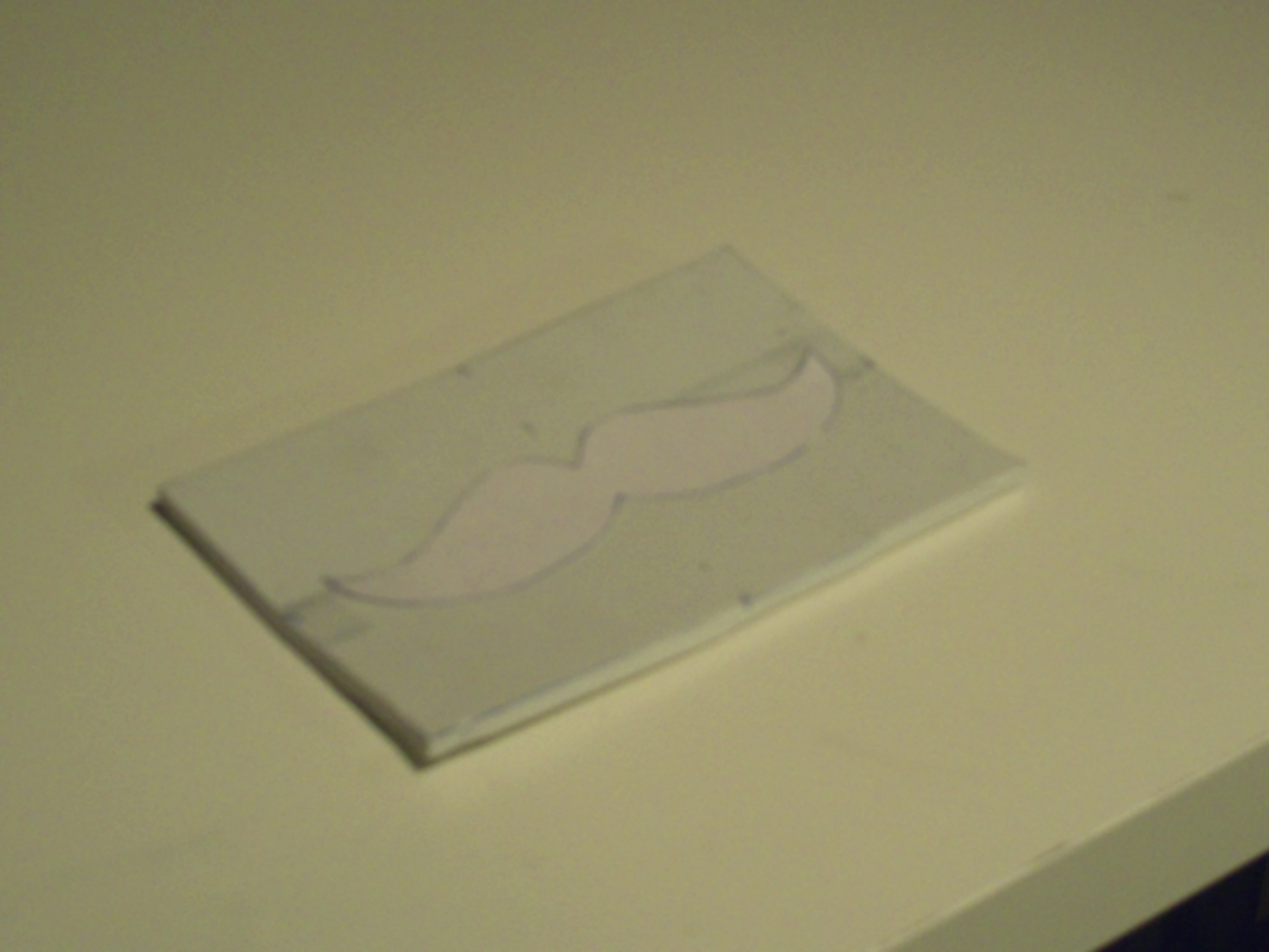 Picture of Tracing Design and Cutting Foam.