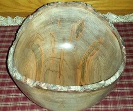 Creating A Natural Bark Edge Wooden Bowl