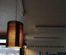 Laser Cut Cardboard Lamp