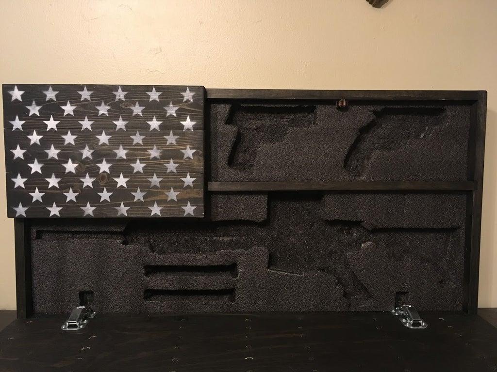 hidden gun storage american flag