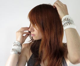 Leather Fish-Scale Cuffs