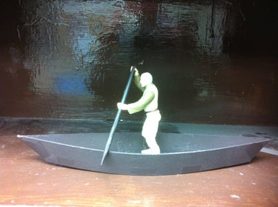 How to Make Canoe/pirogue for Action Figures