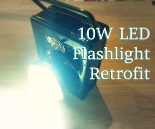 10W LED Flashlight Retrofit!