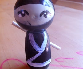 Make an Japanese Kokeshi doll from junk lying around the house!