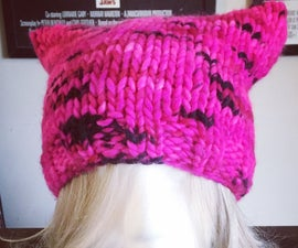 Fast Kitty Ears Pink Hat