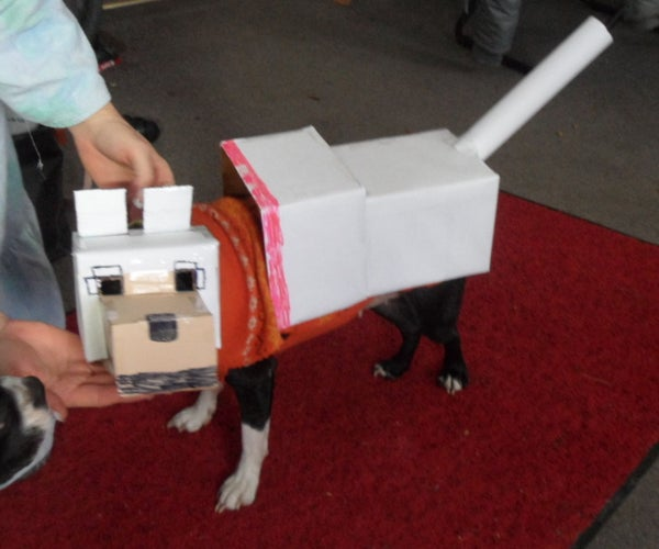How to Make a Minecraft Wolf Dog Costume