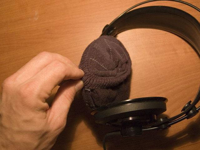 Picture of Wrap the Sock Onto the Earphones