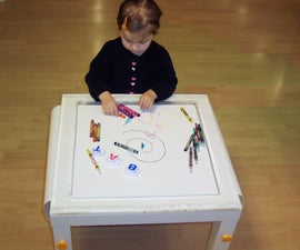 How to make a functional children's coloring table