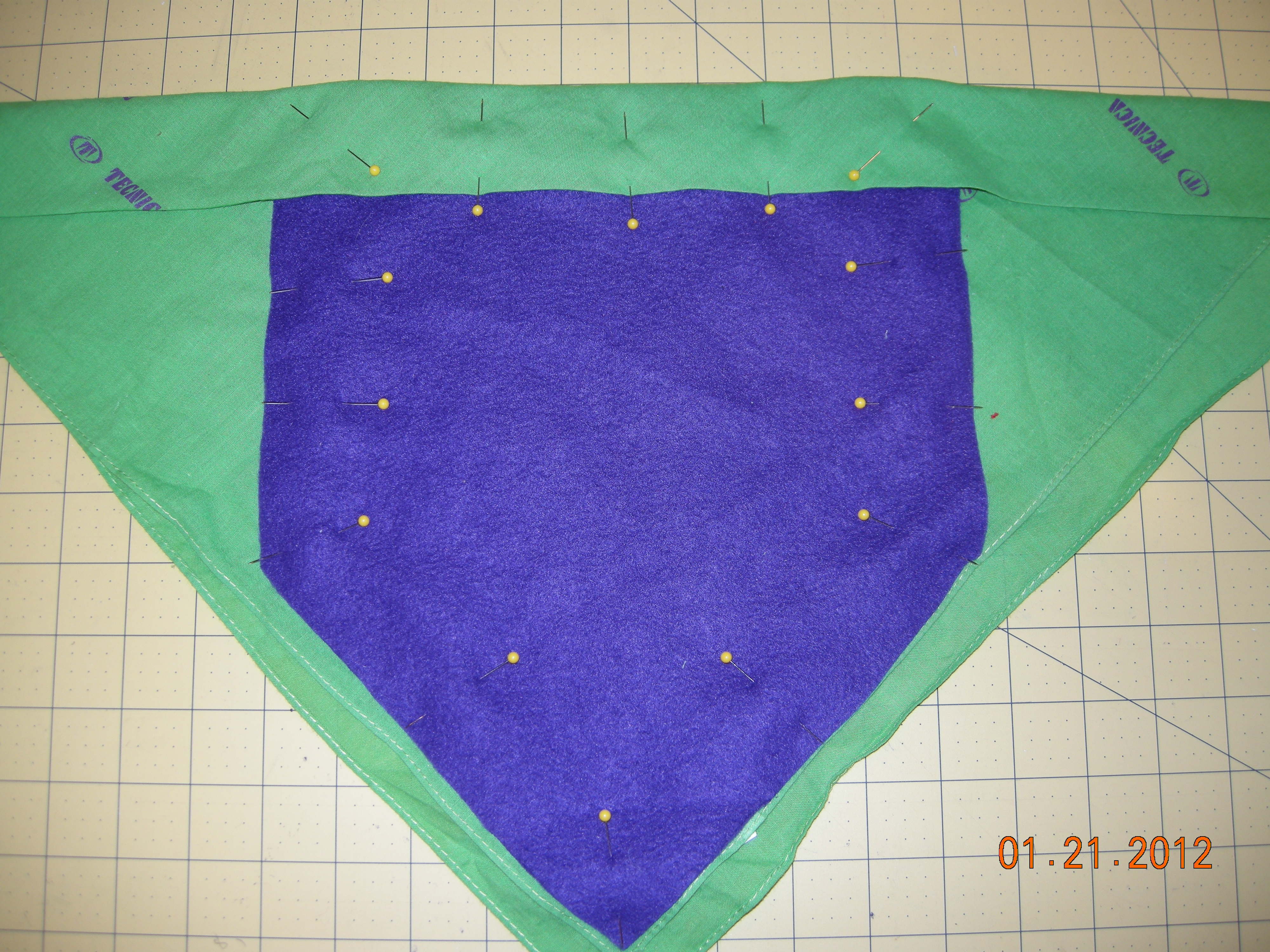 Picture of Step 4:  Placing the Fleece Lining