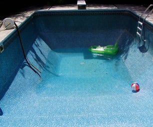 Draining and refilling an inground swimming pool.