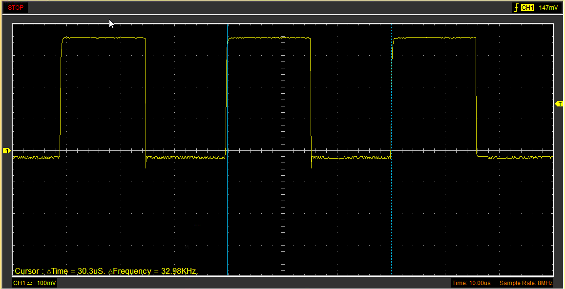 Picture of Setup Frequency on the SQW/OUT Pin