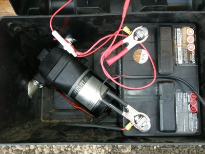 Inside View of Battery Box With Motor
