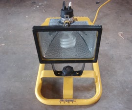 Convert a Halogen Worklamp into Flourescent for $5 and 20 minutes