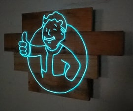 Neon Fallout Sign