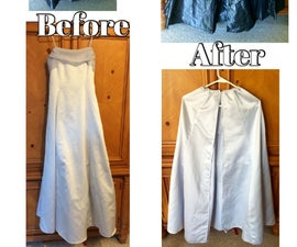 How to Make an Awesome Cloak From a Dress or Skirt