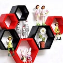 Creative DIY Honeycomb Stylish Wooden Shelves With Beautiful Lighting.