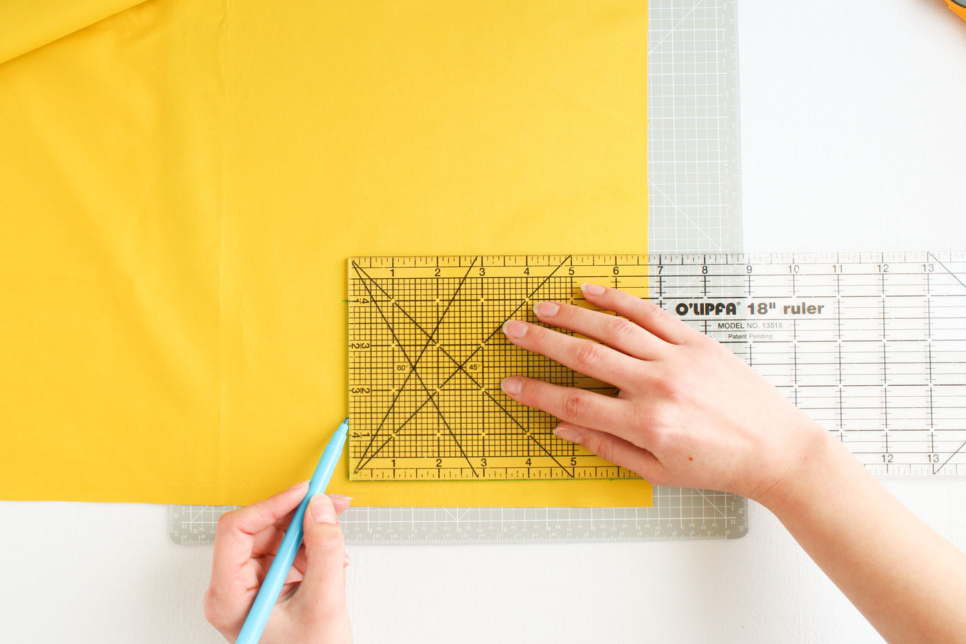 For Bigger Projects: Drawing Out the Pattern on the Fabric