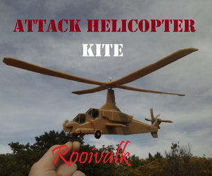 Attack Helicopter Kite - Rooivalk