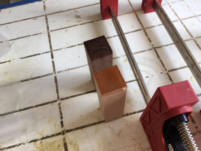 Picture of Gluing the Wood Together