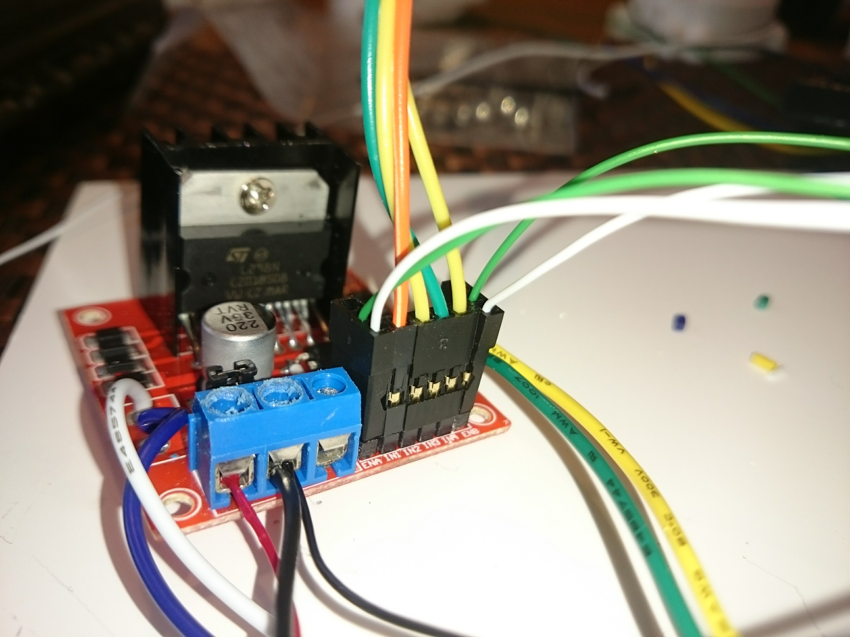 Picture of Stepper Control Connections