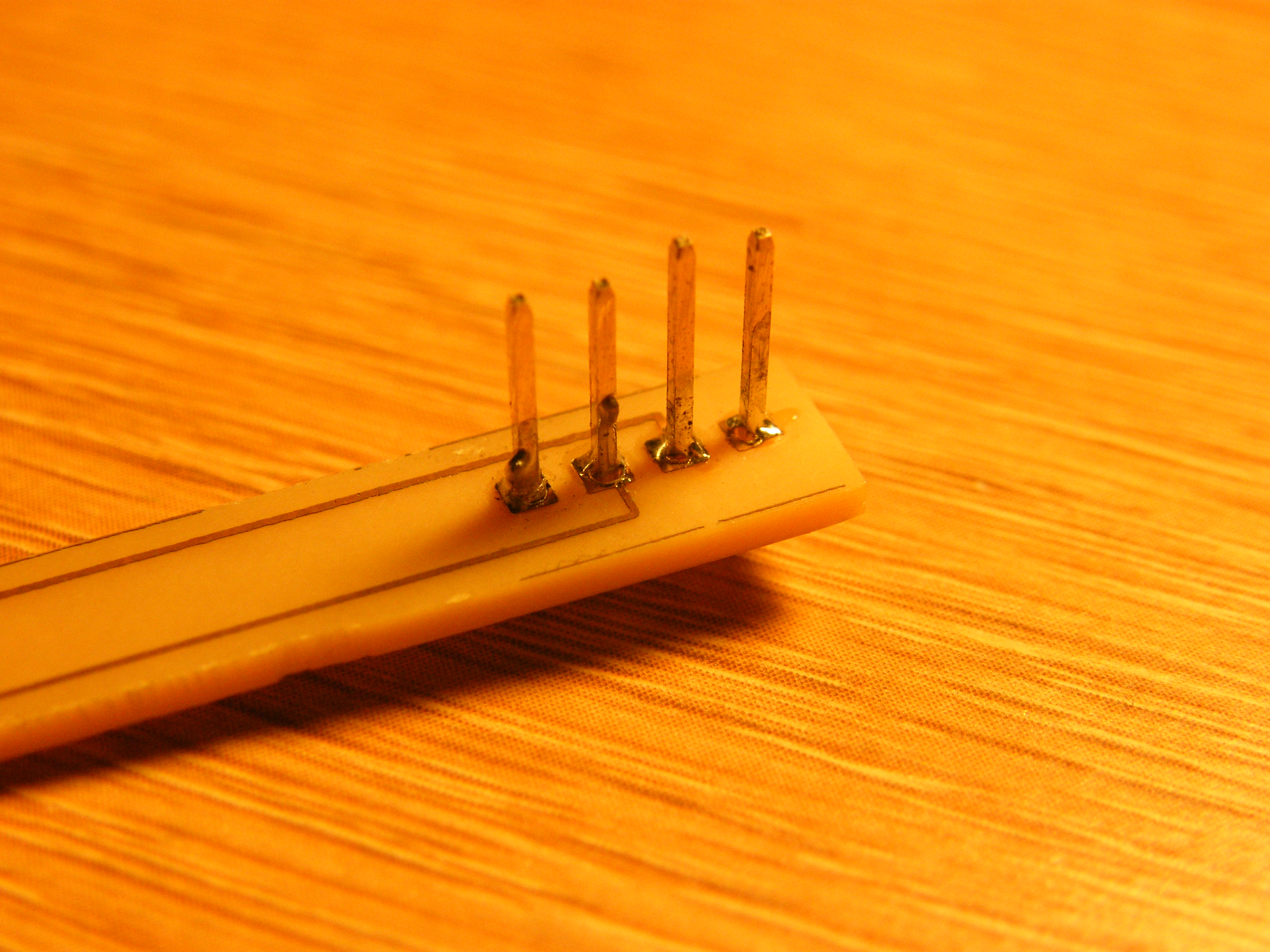 Picture of Soldering on the Header Pins